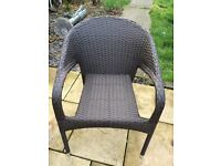 Rattan garden furniture chairs ( 2 available )