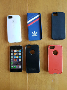 iPhone 5s with cases