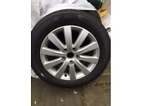 Vw t5 brand new rim and tyre