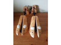 Wooden shoe stretchers/trees - adjustable