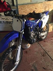 98 yamaha 400f dirtbike trade for sled or quad