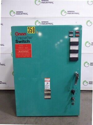 Used 225 Amp Transfer Switch 277480 Volt Onan Otcu 225g 31g 306-3480-06