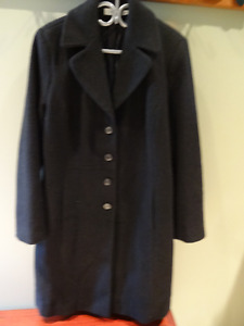 BLACK women's winter coat (XL) - 80% wool - ONLY $30