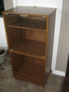 Shelving Unit Cabinet with Glass Doors - VGUC - $10