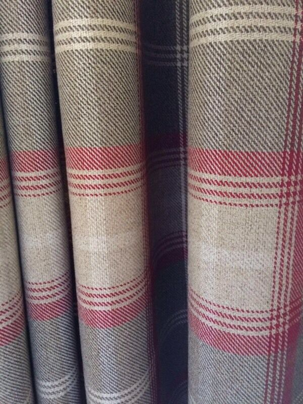 Dunelm Mill Red Highland Check Curtains Amp 4 Matching