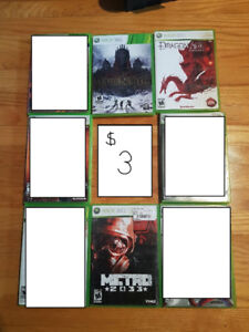 USED, xbox 360 games in good condition