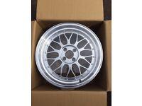 """Set of 4 17"""" deep dish alloy wheels 4x100 9.5j et32"""