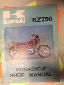 Kawasaki KZ750 Motorcycle Shop Manual