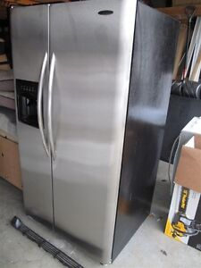 Frigidaire Stainless Refrigerator/Freezer Side-by-Side with ice