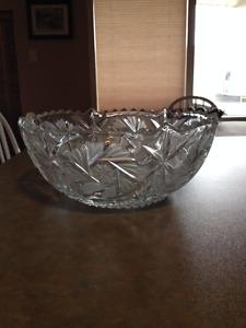 Pretty Round Glass Fruit Bowl