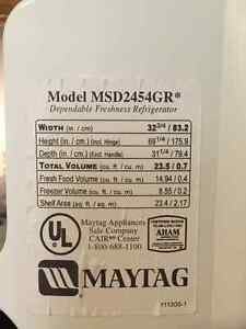 MAYTAG side by side doors fridge with ice maker Kitchener / Waterloo Kitchener Area image 3