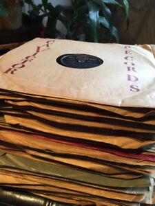 Collection de 80 disques vinyles 78 tours très rare !!