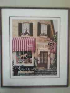 Framed picture of Gammage Flower Shop