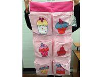 Door over hanger pocket organiser cupcake as new