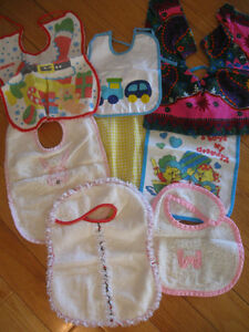 ...Bibs...and More Bibs!....EIGHT in ALL...CUTE-AS-A-BUTTON!