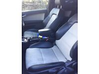 Audi a3 s3 8p black and white heated leather interior and electric lumbar support