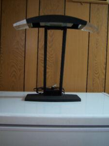 2 lampes de table, ampoule halogène avec gradateur