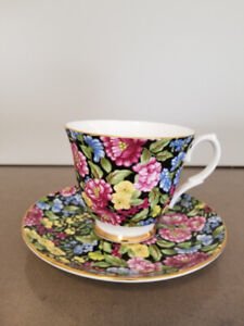BETHANY made in STAFFORDSHIRE ENGLAND*FINE BONECHINA Cup &Saucer