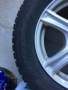 Winter tires with mags for sale