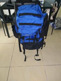 Blue black ruck sack