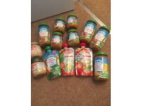 Bundle of baby jars and pouches.