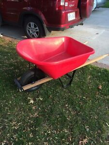 8 Cu. Ft Poly Tray Wheelbarrow-like new- Only $45 o.b.o
