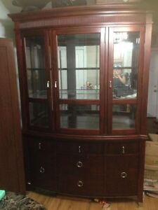Excellent Used Condition Solid Wood Display Cabinet