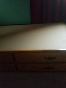 Single wood bed with drawers and mattress