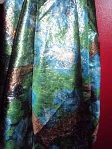 Vintage metallic scarf from Right House.