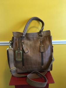 EUC Marks & Spencer Autograph Large All Leather Tote Purse