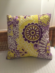 Yellow/Purple Throw Pillow