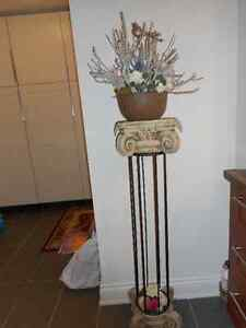 Designed stone plant stand-Indoor or outdoor