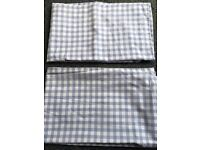 2 x's Next blue and white Gingham pillow case