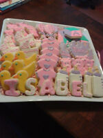 Baby shower and Gender reveal cookies
