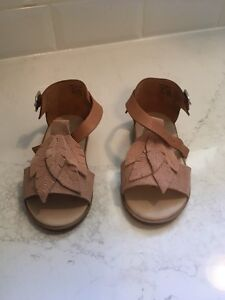 Leather and suede Zara baby sandals. Size 22 (about 5, 5.5) Kitchener / Waterloo Kitchener Area image 1
