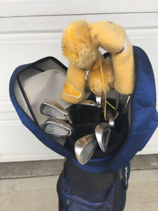 Like new golf clubs and case