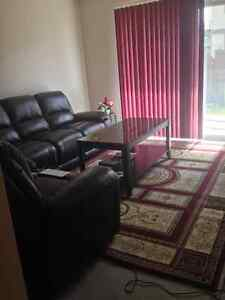 one master bedroom in a two bedroom apartment/town house
