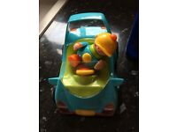Tolo car with man works lights and sounds and moves