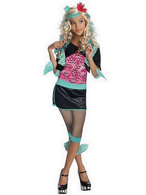 Child Lagoona Blue Monster High Fancy Dress Girls Halloween Costume Ages 3-10 - Lagoona Blue Halloween Costume