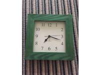 Green Woden Wall clock