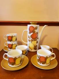 Vintage j & g meakin studio pottery oranges & lemons full coffee set