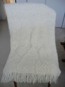 Afghan Blanket handmade from Samoyed dog hair
