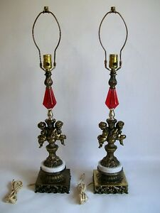 2 Lampes de Table Antiques - 2 Antique Table Lamps
