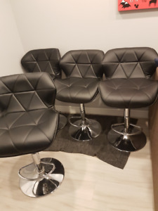 Leather Bar stools/ chairs!! ALL 4 FOR $70!!!
