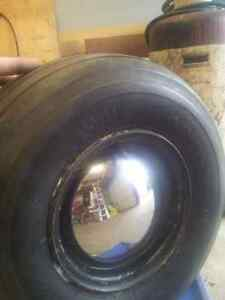 Harley golf cart rims and tires with moon caps Kitchener / Waterloo Kitchener Area image 1