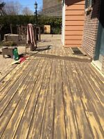 CM DECK REPAIR & STAINING
