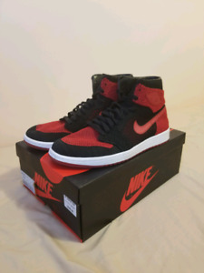 "Air Jordan 1 Retro High OG Flyknit ""Bred"" 10 US"