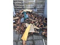 Few tonnes of old bricks. Some mortar on them