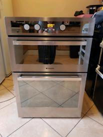 Hotpoint DE47X double electric oven built in 60cm