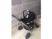 Mothercare Xpedior 3in1 pram pushchair and car seat